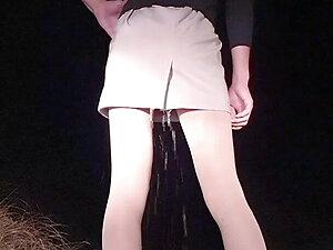 korean sissy public squirt wet pantyhose